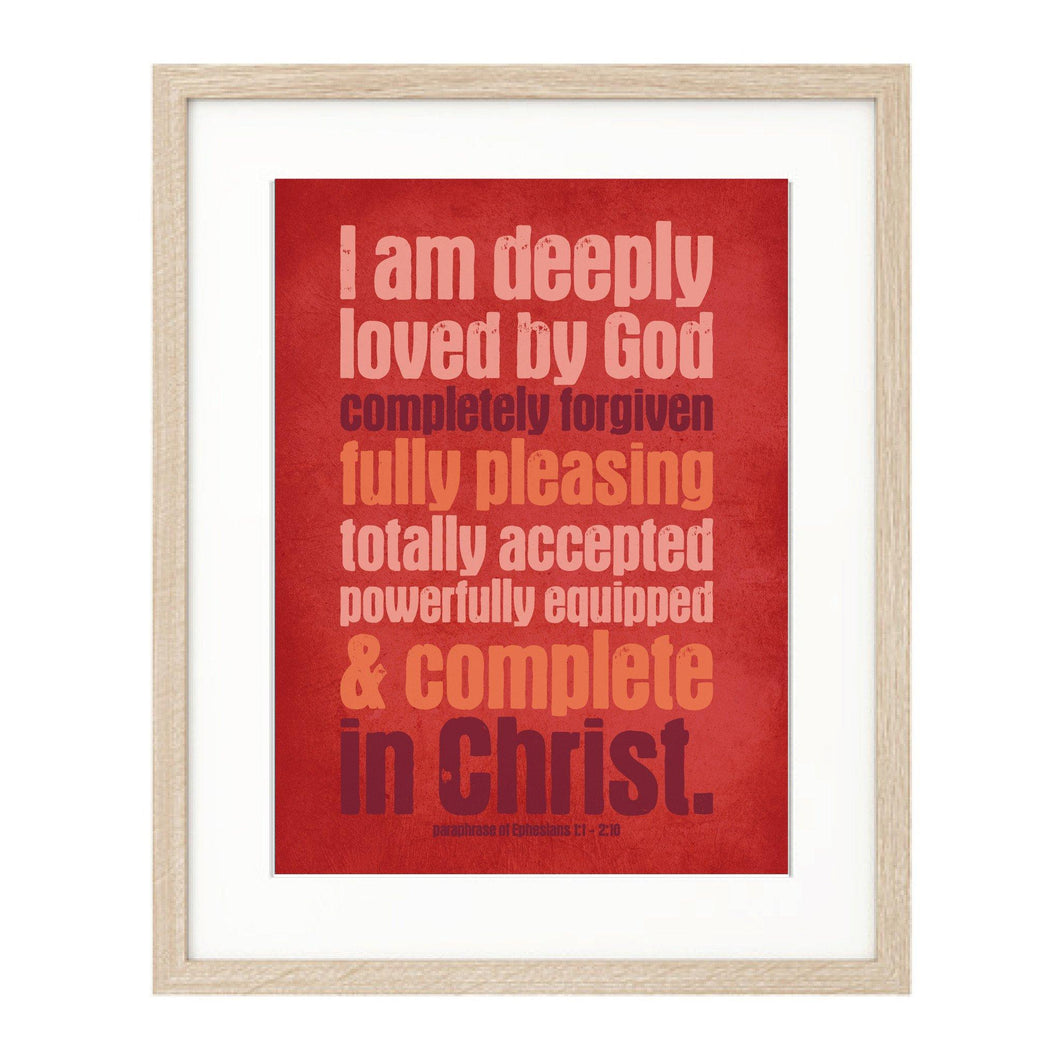 I Am Deeply Loved - Urban Print