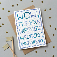 Load image into Gallery viewer, Sapphire Wedding anniversary card