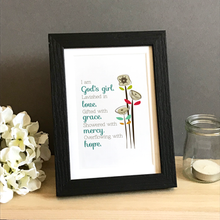 Load image into Gallery viewer, 'God's Girl' by Emily Burger  - Framed Print