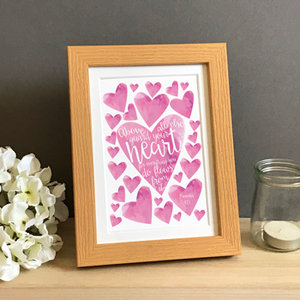 'Guard Your Heart' by Preditos - Framed Print