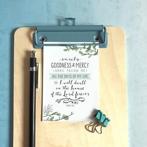 'Surely Goodness and Mercy' by Emily Burger - Mini Cards
