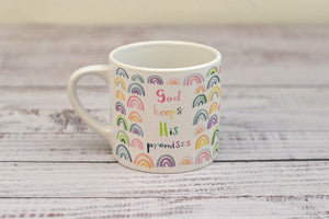 """God keeps his promises"" child's mug (with personalised option)"