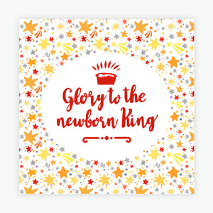"""Glory to the Newborn King"" Christmas cards  - 10 Pack"