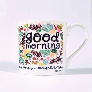 """Good Morning"" fine bone china mug"