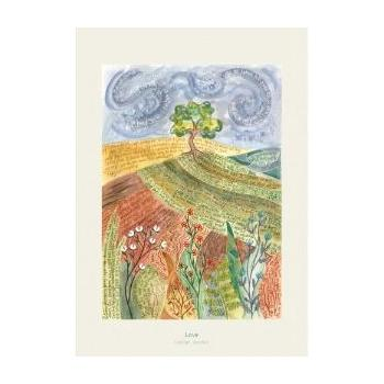 'Love' by Hannah Dunnett - Greeting Card