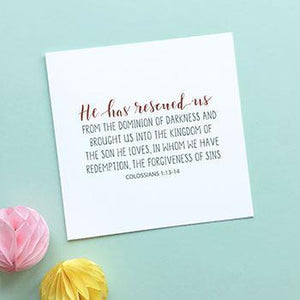 'He Has Rescued Us' - Easter Card
