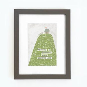 'As for Me and My House' (Hill) by Emily Burger - Framed Print