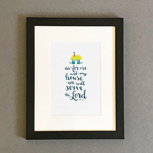 'As For Me and My House' by Emily Burger - Framed Print