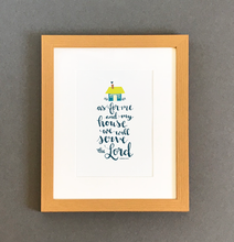 Load image into Gallery viewer, 'As For Me and My House' by Emily Burger - Framed Print