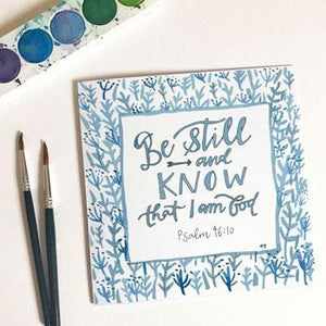 'Be Still' by Helen Stark - Greeting Card