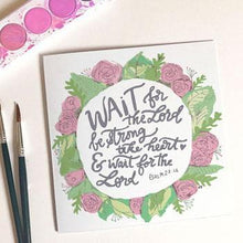 Load image into Gallery viewer, 'Wait for the Lord' by Helen Stark - Greeting Card