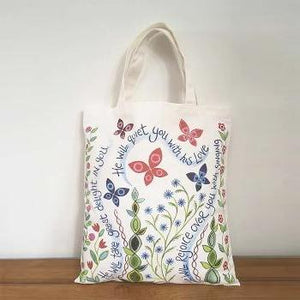 'Great Delight' and 'The Lord is With You' by Hannah Dunnett - Canvas Bag