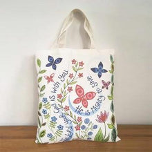 Load image into Gallery viewer, 'Great Delight' and 'The Lord is With You' by Hannah Dunnett - Canvas Bag