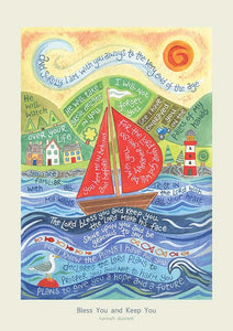 'Bless You and Keep You' by Hannah Dunnett - Greeting Card