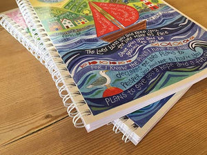'Bless you and keep you' by Hannah Dunnett - A5 Chunky Notebook