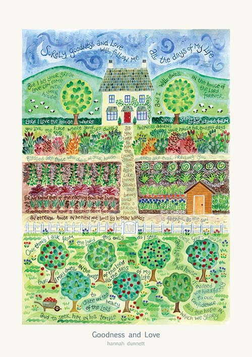 'Goodness and love' by Hannah Dunnett - Poster Print