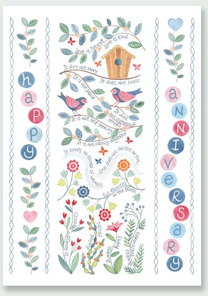 'Happy Anniversary' by Hannah Dunnett - Greeting Card