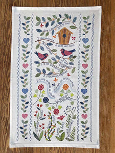 'Love is Patient' Tea Towel by Hannah Dunnett