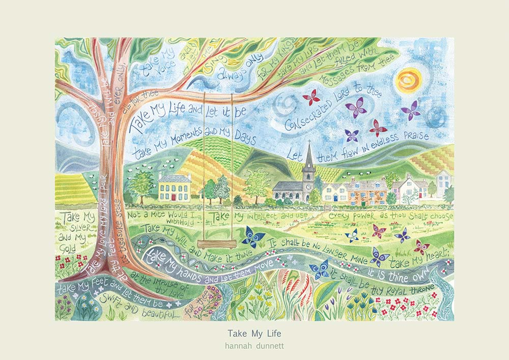 'Take my life' by Hannah Dunnett - Greeting Card