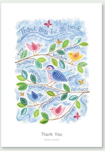 'Thank You' by Hannah Dunnett - Greetings Card