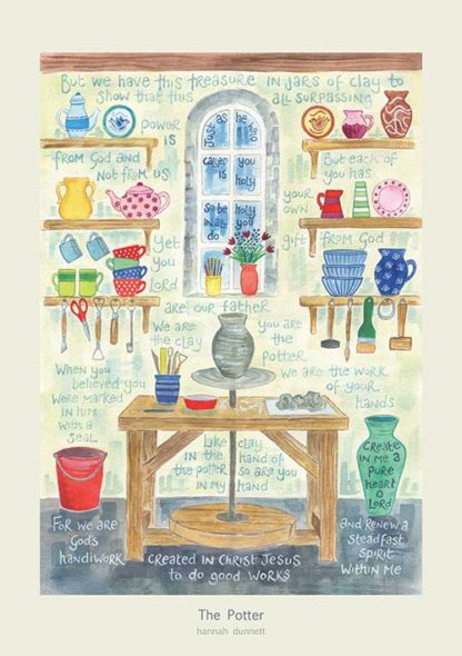 'The Potter' by Hannah Dunnett - Greeting Card