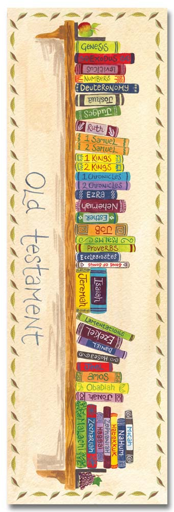 Books of the Bible bookmark by Hannah Dunnett