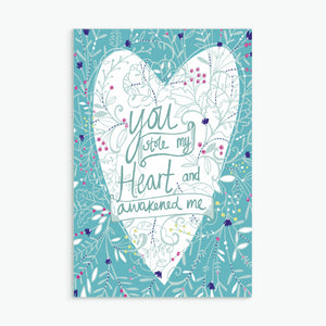 """You Stole My Heart""  greeting card by Emily Kelly"