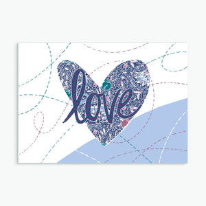 """Love""  greeting card by Emily Kelly"