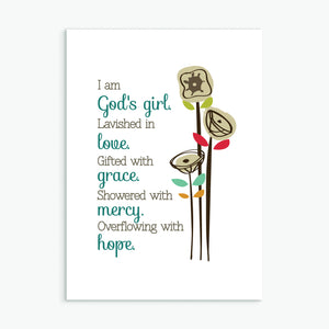 'God's Girl' by Emily Burger - Greeting Card