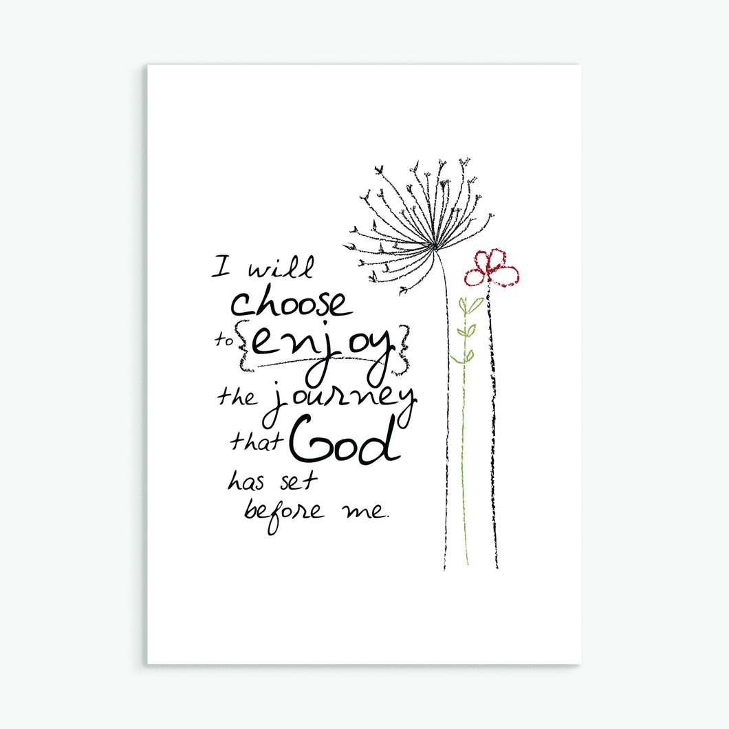 'I Will Choose' by Emily Burger - Greeting Card