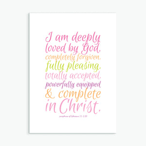 'Deeply Loved' by Preditos - Greeting Card