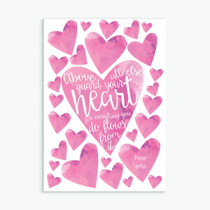 'Guard Your Heart' by Preditos - Greeting Card