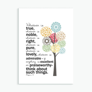 'Whatever is True' by Emily Burger - Greeting Card