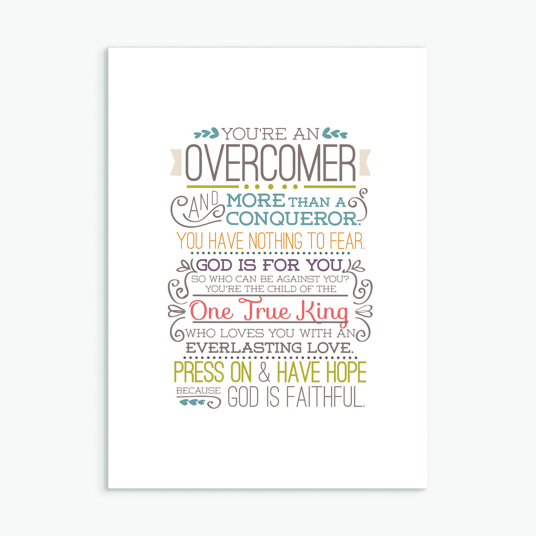 'Overcomer' by Emily Burger - Greeting Card