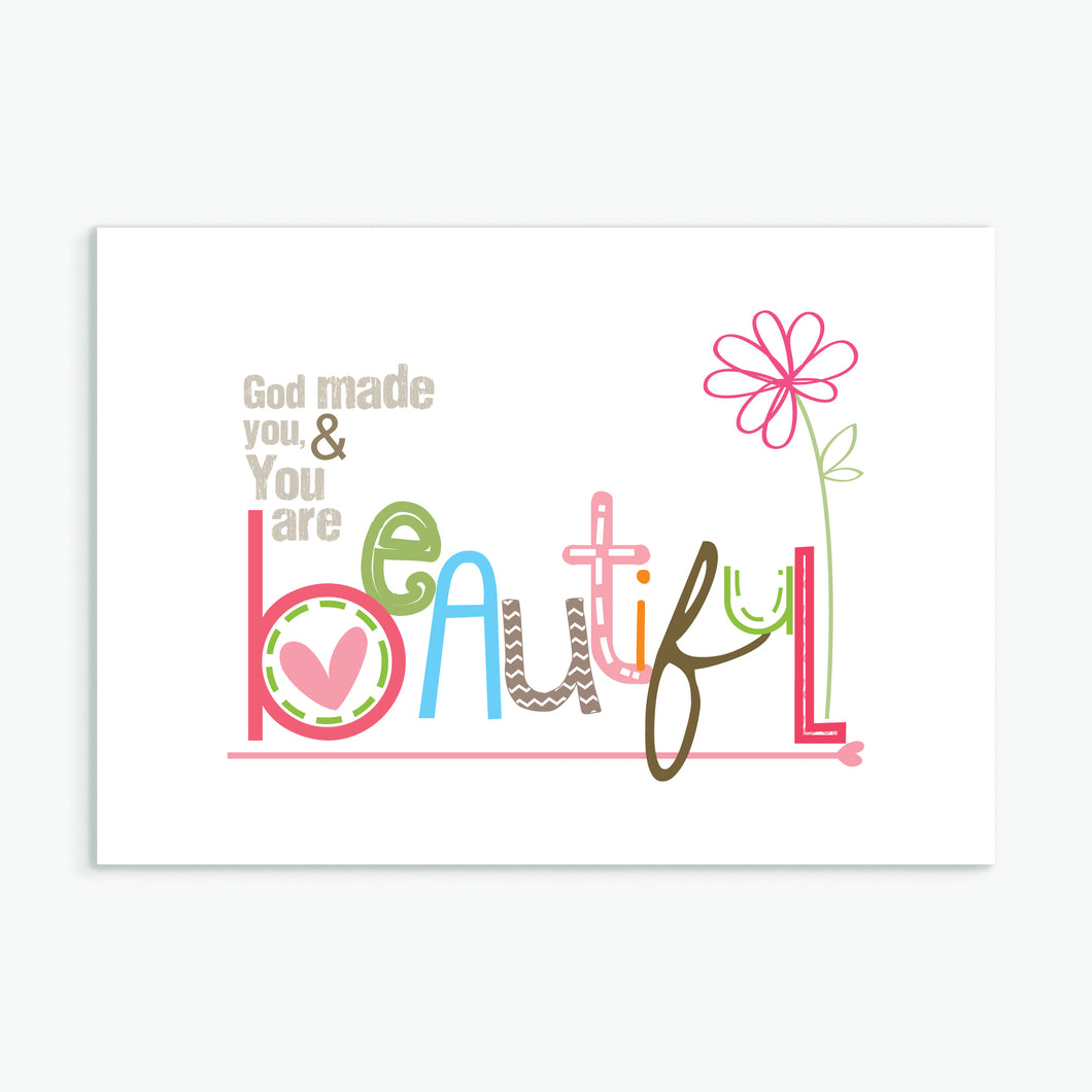 'Beautiful' by Emily Burger - Greeting Card