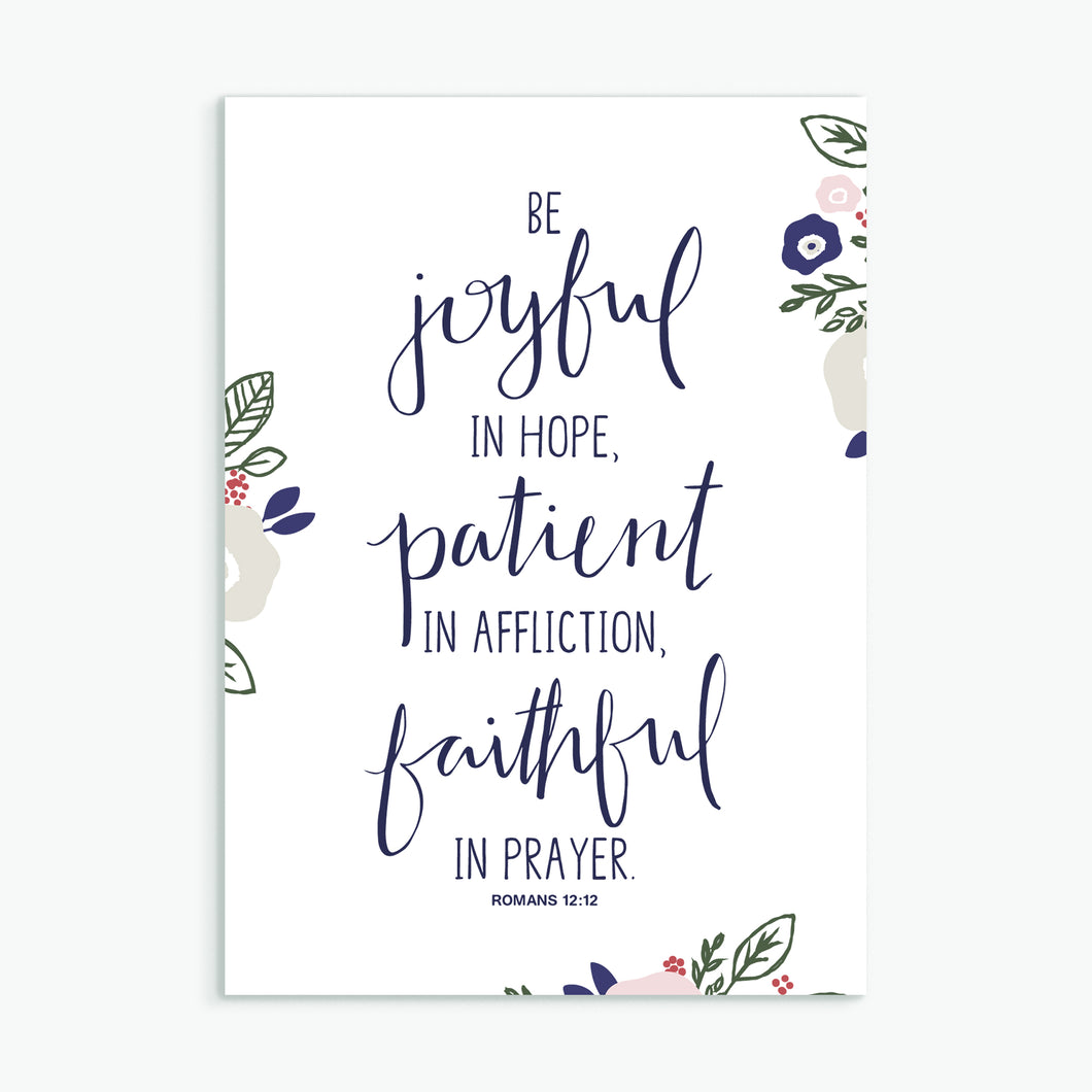 'Be Joyful' (2017) by Emily Burger - Greeting Card