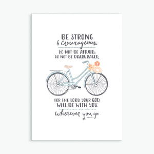 'Be Strong' (Bicycle) by Emily Burger - Greeting Card