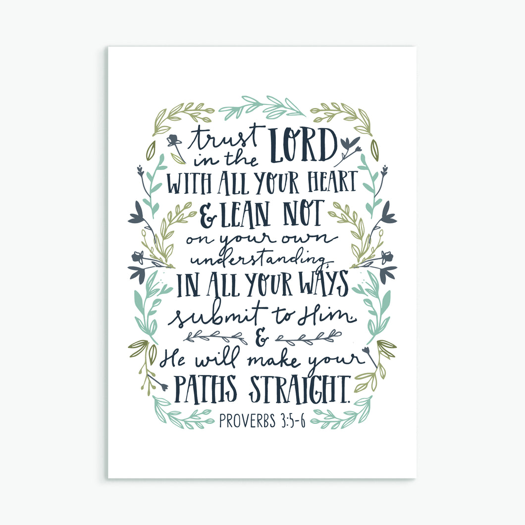 'Trust in the Lord' by Emily Burger - Greeting Card