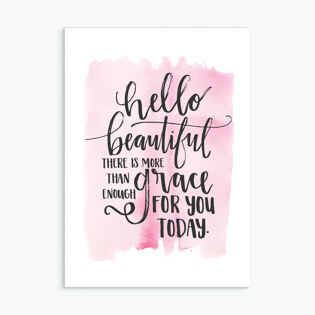 'Hello Beautiful' by Emily Burger - Greeting Card
