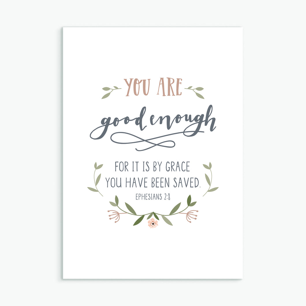 'You Are Good Enough' by Emily Burger - Greeting Card