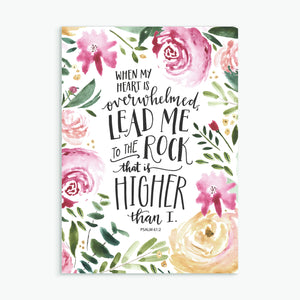 'Lead me to the rock' - Greeting Card