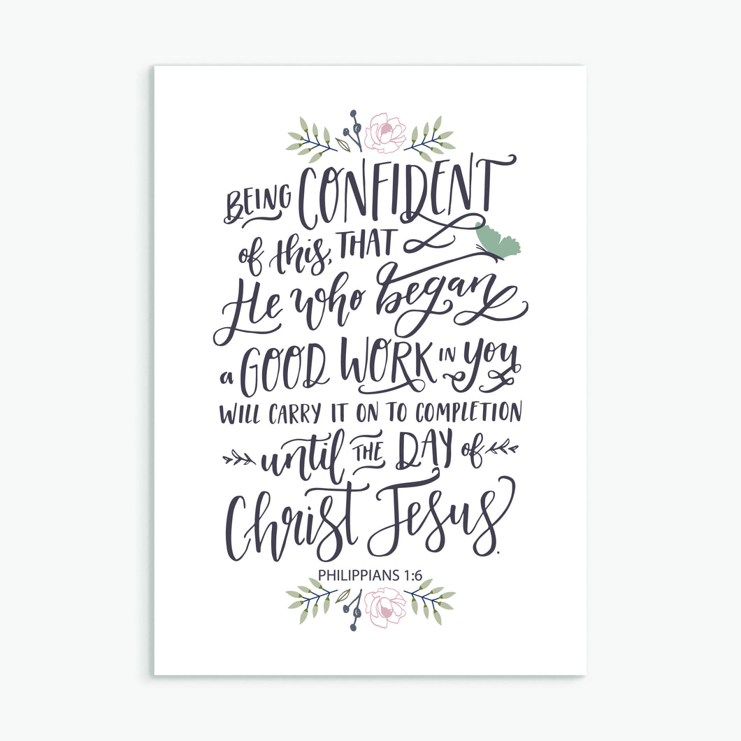 'He Who Began a Good Work in You' - Greeting Card