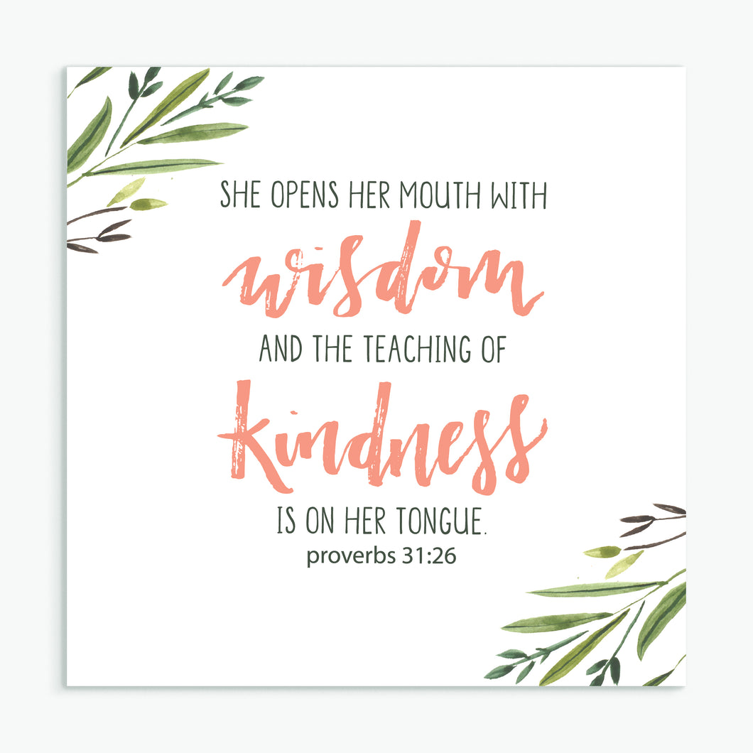 'Wisdom and Kindness' - Greeting Card