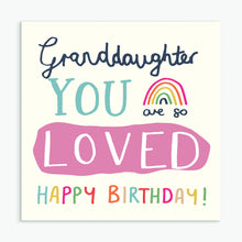 Load image into Gallery viewer, 'Happy Birthday Granddaughter' Greeting Card & Envelope