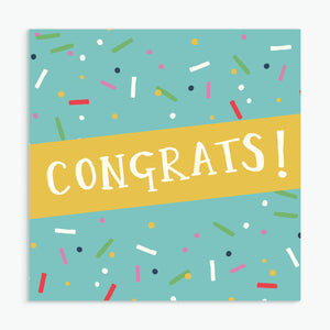 'Congratulations' Greeting Card & Envelope