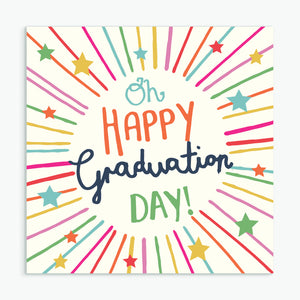 'Happy Graduation Day' Greeting Card & Envelope