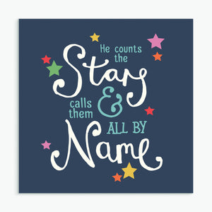 'He Counts The Stars' New Baby Card & Envelope