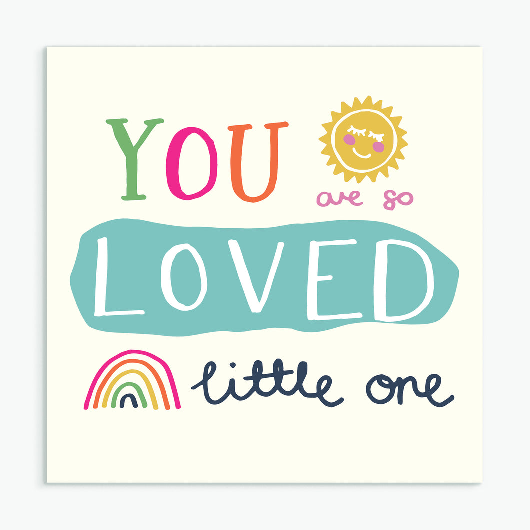 'You Are So Loved' New Baby Card & Envelope