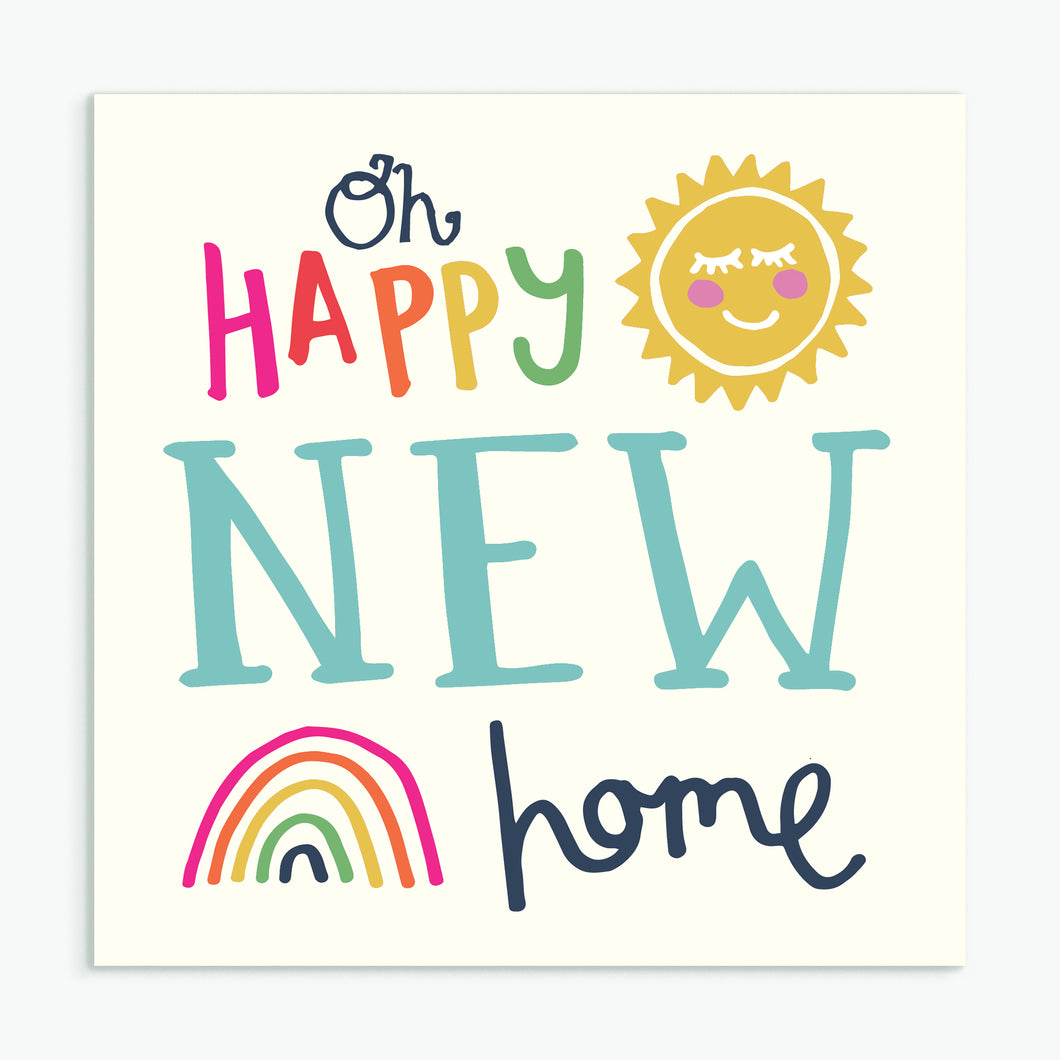 'New Home' Greeting Card & Envelope