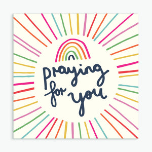 'Praying For You' Greeting Card & Envelope